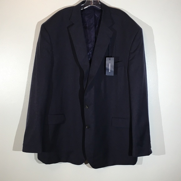 Stafford Other - Stafford 100% Wool Navy Suit Coat/Jacket - 56L